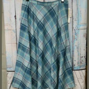VTG Pendleton Women's 14 Plaid Skirt NOS BLUE